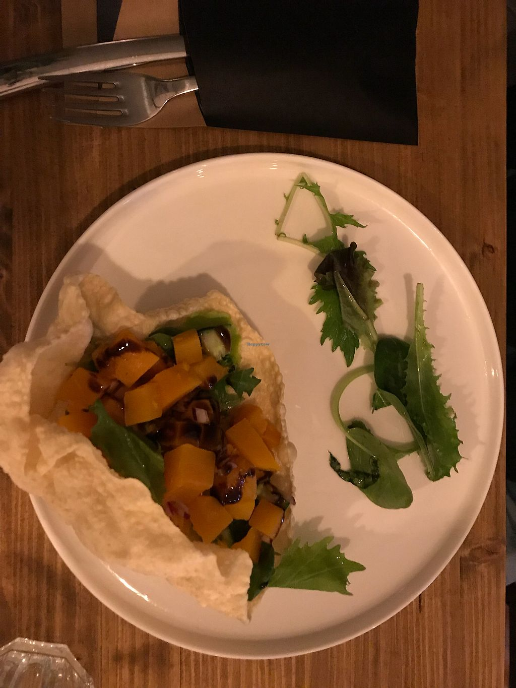 """Photo of Eetkamer Everydays  by <a href=""""/members/profile/Charlottez"""">Charlottez</a> <br/>Starter, pumpkin salad with papadum <br/> October 28, 2017  - <a href='/contact/abuse/image/103811/319414'>Report</a>"""