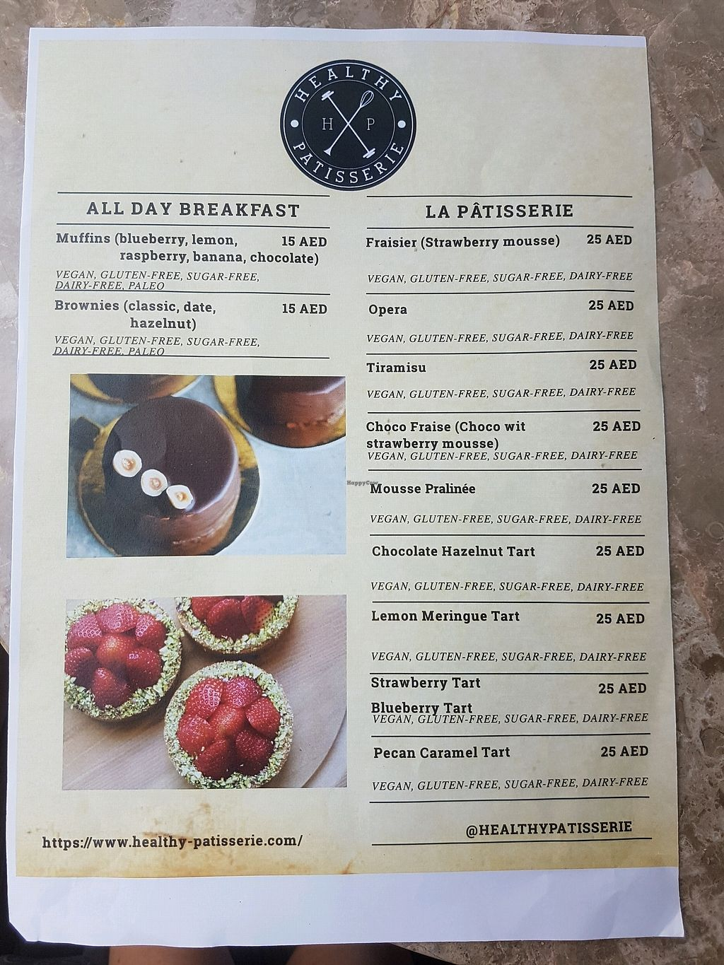 "Photo of Healthy Patisserie  by <a href=""/members/profile/Olena"">Olena</a> <br/>menu <br/> April 14, 2018  - <a href='/contact/abuse/image/103812/385558'>Report</a>"