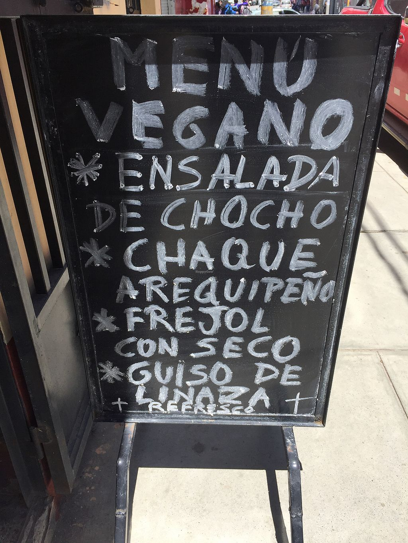 """Photo of El Eden Restaurant Vegano  by <a href=""""/members/profile/joegelay"""">joegelay</a> <br/>Sample menú (Ejemplo del menú del día) <br/> January 27, 2018  - <a href='/contact/abuse/image/103820/351474'>Report</a>"""