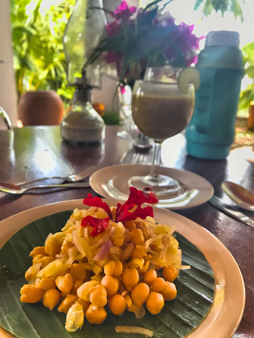 """Photo of Hotel Eva Lanka  by <a href=""""/members/profile/SoniaGivray"""">SoniaGivray</a> <br/>Chickpeas salad  <br/> November 4, 2017  - <a href='/contact/abuse/image/103823/321646'>Report</a>"""