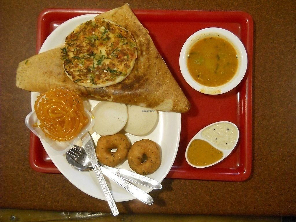 "Photo of Angan - Tripureshwar  by <a href=""/members/profile/Masala-Dosa"">Masala-Dosa</a> <br/>South Indian platter <br/> October 29, 2017  - <a href='/contact/abuse/image/103836/319676'>Report</a>"