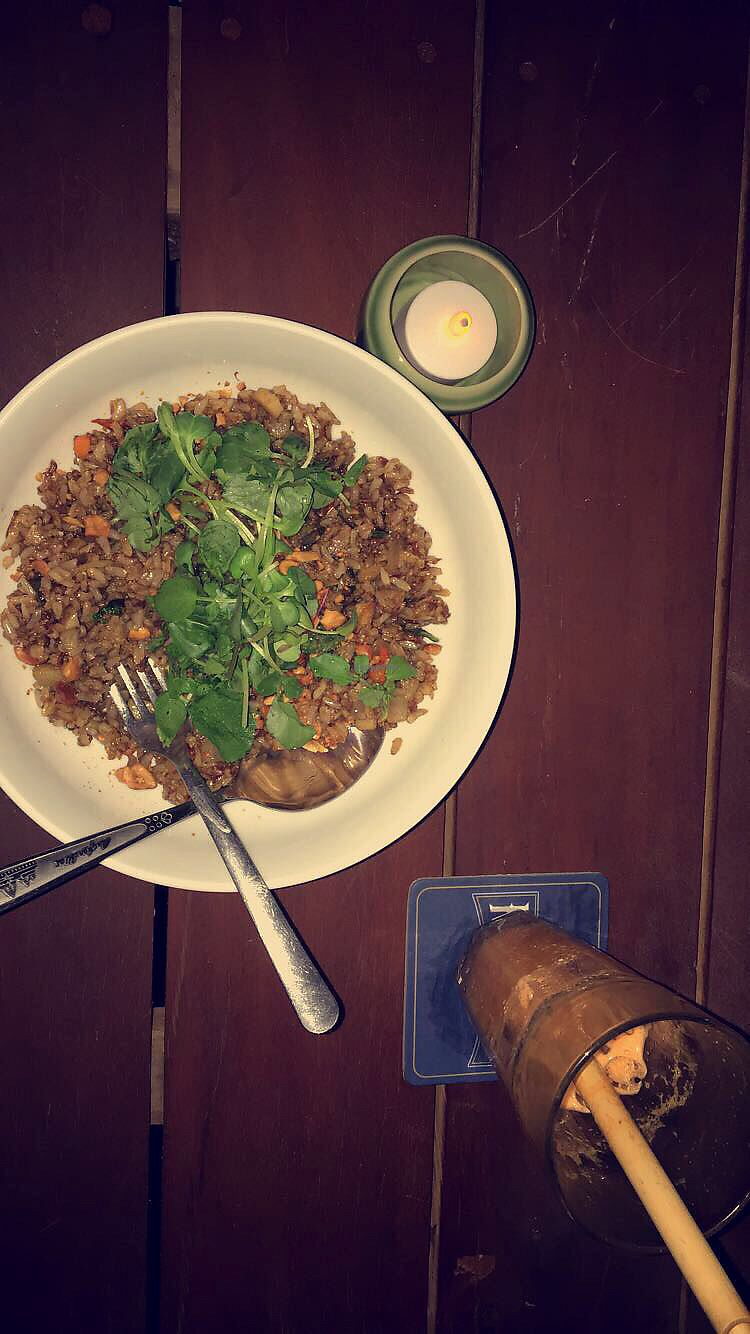 """Photo of Moringa Bar & Restaurant  by <a href=""""/members/profile/brittani%C3%A98"""">brittanié8</a> <br/>Bangkok bowl❤️ <br/> January 13, 2018  - <a href='/contact/abuse/image/103857/346062'>Report</a>"""