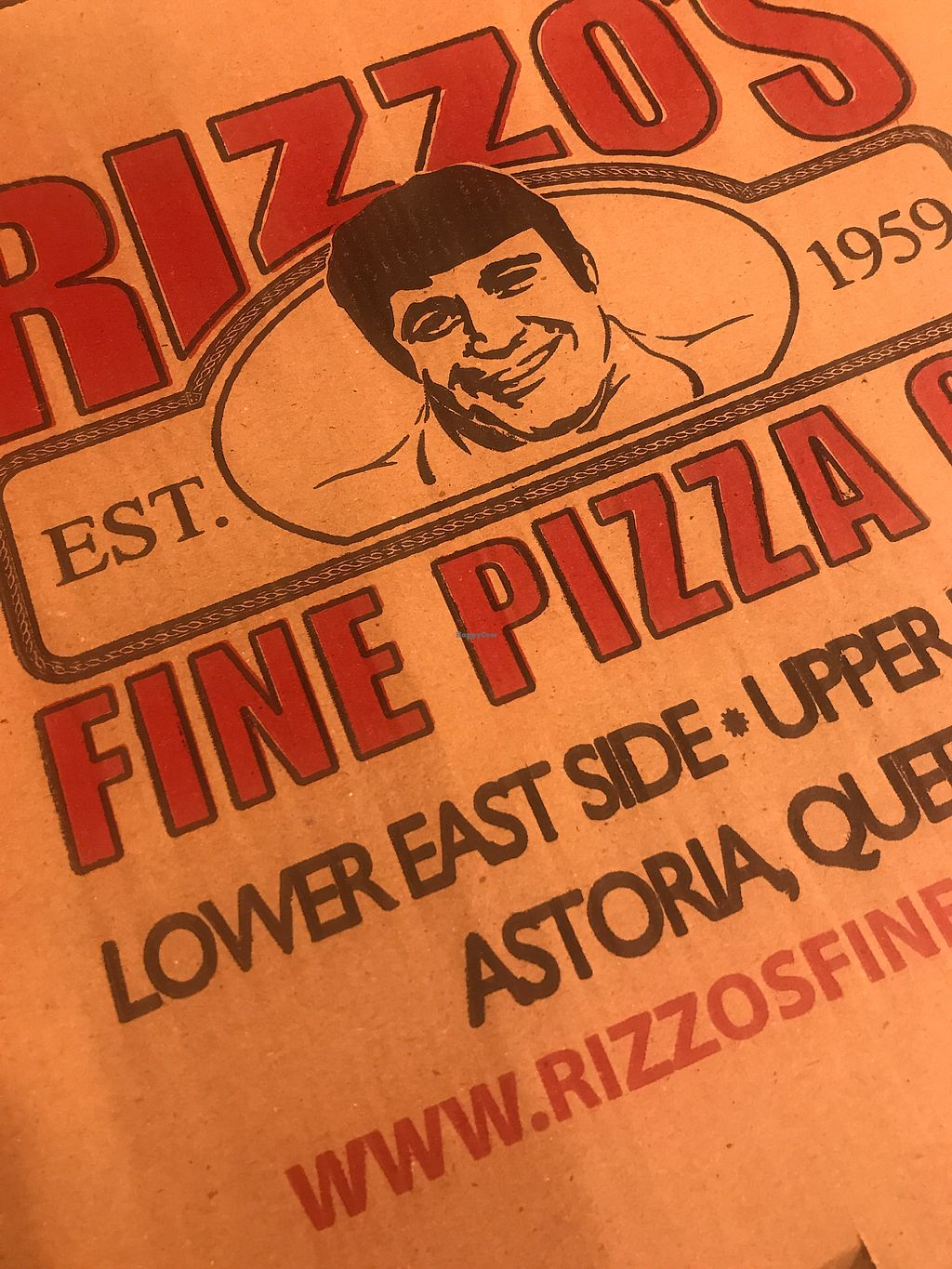 """Photo of Rizzo's Fine Pizza  by <a href=""""/members/profile/The%20London%20Vegan"""">The London Vegan</a> <br/>Since 1959! NY's finest?? Ok  <br/> November 13, 2017  - <a href='/contact/abuse/image/103896/324972'>Report</a>"""
