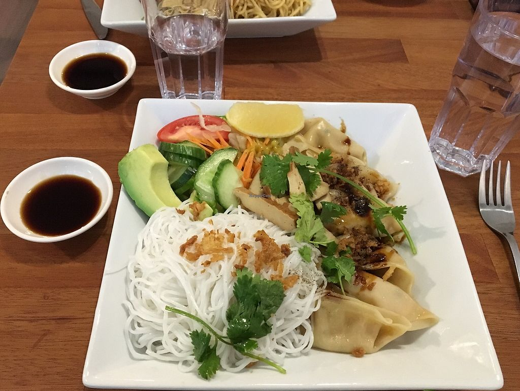 """Photo of Green Food  by <a href=""""/members/profile/DavyJones"""">DavyJones</a> <br/>Vegan Dumplings <br/> October 31, 2017  - <a href='/contact/abuse/image/103947/320355'>Report</a>"""
