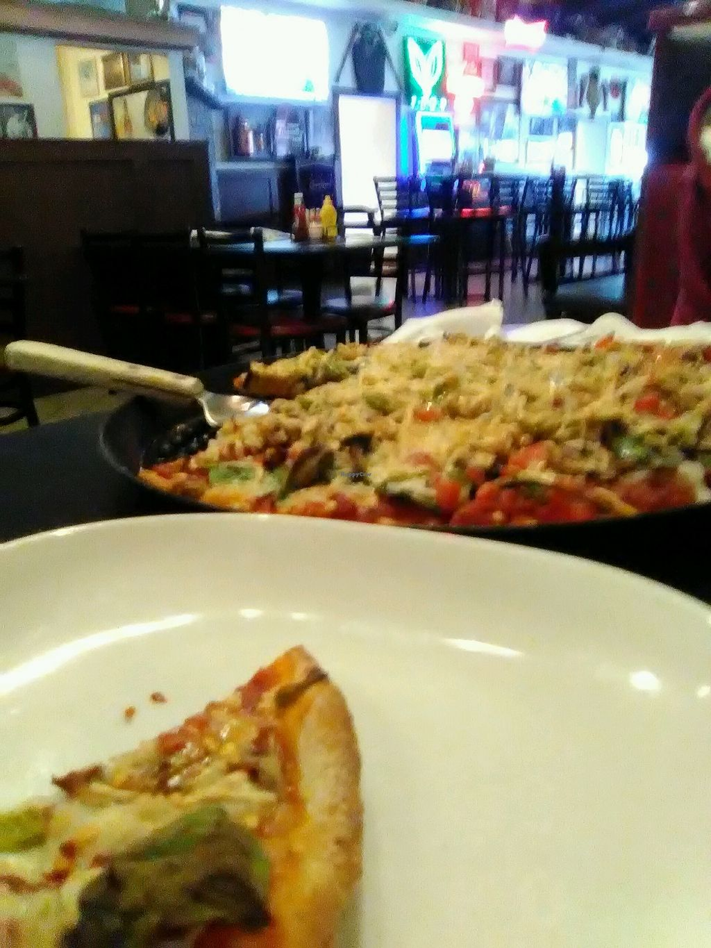"""Photo of Gelsosomo's Pizzeria  by <a href=""""/members/profile/Valhaclaw"""">Valhaclaw</a> <br/>Order the veggie pizza with the vegan cheese option <br/> March 31, 2018  - <a href='/contact/abuse/image/103986/379114'>Report</a>"""