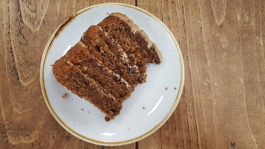 "Photo of Gastrop Pod Cafe  by <a href=""/members/profile/VeganAnnaS"">VeganAnnaS</a> <br/>Vegan coffee and walnut cake <br/> October 31, 2017  - <a href='/contact/abuse/image/103991/320351'>Report</a>"