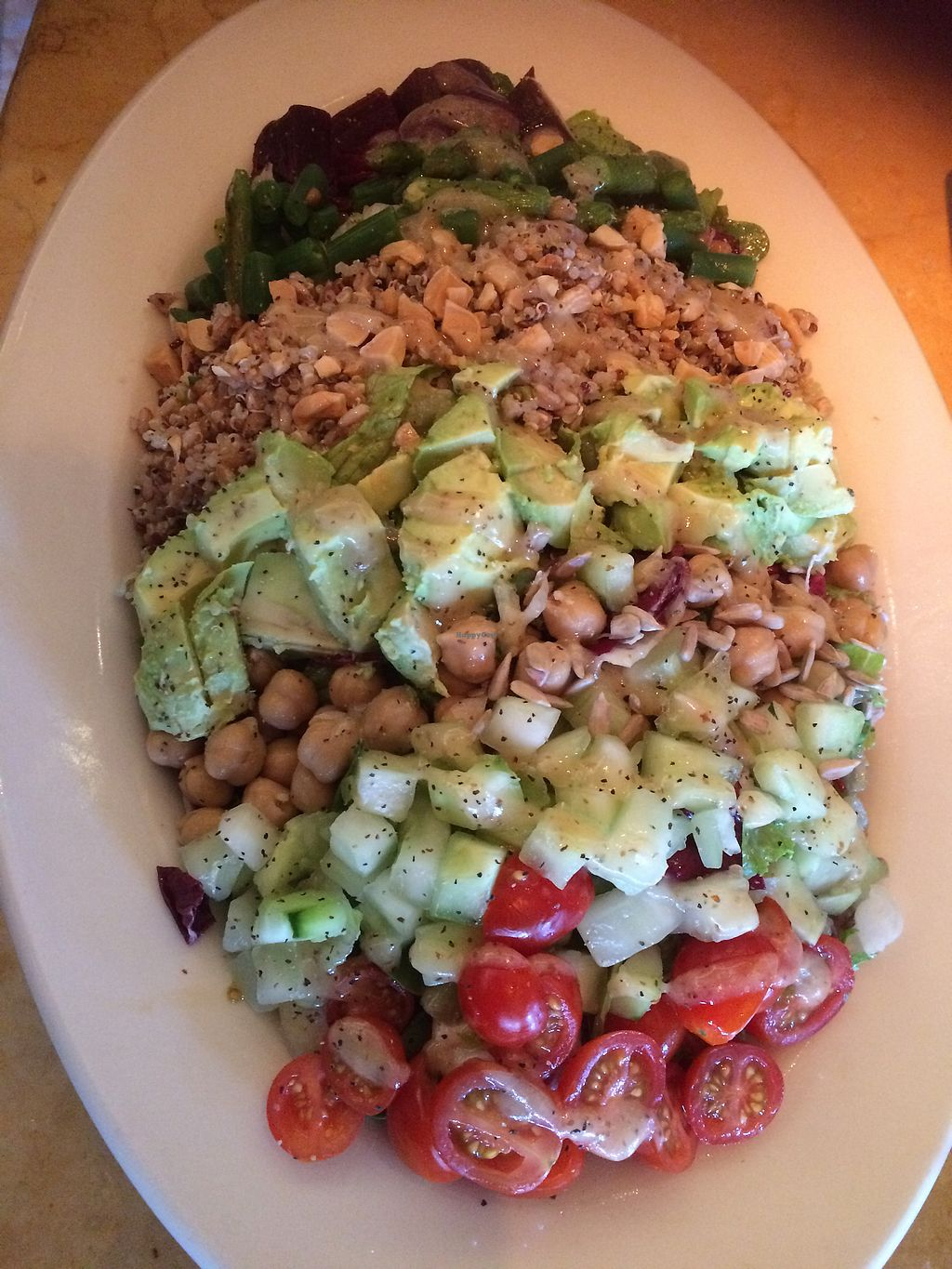 """Photo of The Cheesecake Factory  by <a href=""""/members/profile/fruitiJulie"""">fruitiJulie</a> <br/>Vegan Cobb salad <br/> November 21, 2017  - <a href='/contact/abuse/image/103994/327879'>Report</a>"""