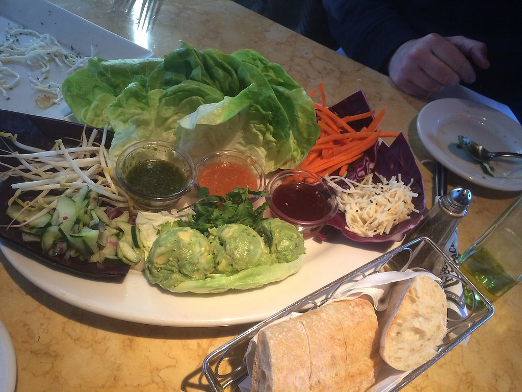 """Photo of The Cheesecake Factory  by <a href=""""/members/profile/fruitiJulie"""">fruitiJulie</a> <br/>Vegetarian Thai lettuce wraps with guacamole  <br/> April 9, 2018  - <a href='/contact/abuse/image/103994/382751'>Report</a>"""