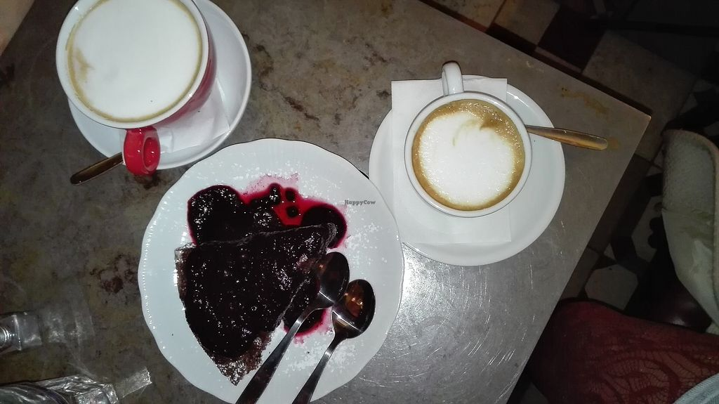 "Photo of Cafe Bar 67  by <a href=""/members/profile/TytoAlba"">TytoAlba</a> <br/>Vegan cake and vegan cappuccino <br/> February 14, 2018  - <a href='/contact/abuse/image/103996/359028'>Report</a>"