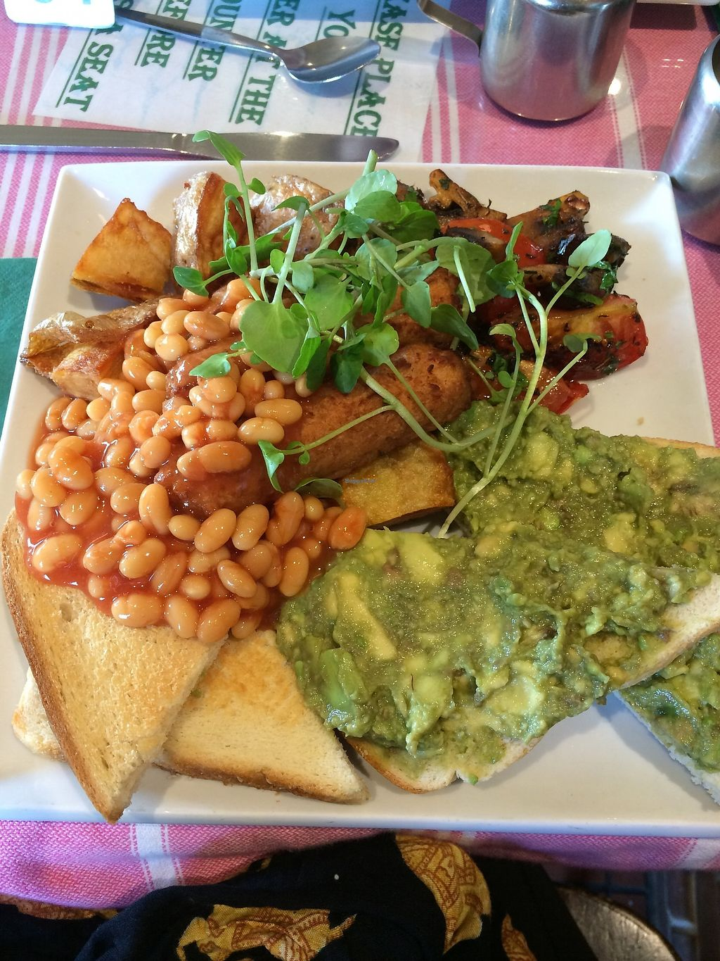 "Photo of The Eating House  by <a href=""/members/profile/washcat"">washcat</a> <br/>I asked them to add avocado to my vegan English breakfast :) <br/> November 12, 2017  - <a href='/contact/abuse/image/104080/324833'>Report</a>"
