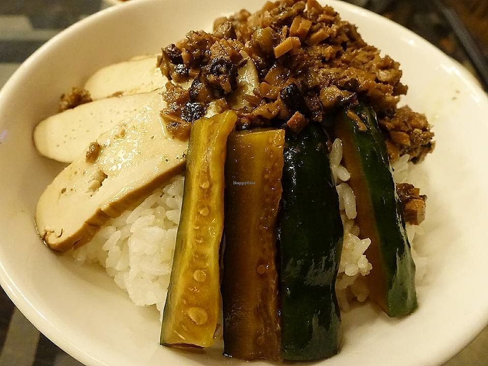 """Photo of Veggie Mind Cafe  by <a href=""""/members/profile/JimmySeah"""">JimmySeah</a> <br/>cucumber, bean curd and rice  <br/> November 2, 2017  - <a href='/contact/abuse/image/104095/321150'>Report</a>"""