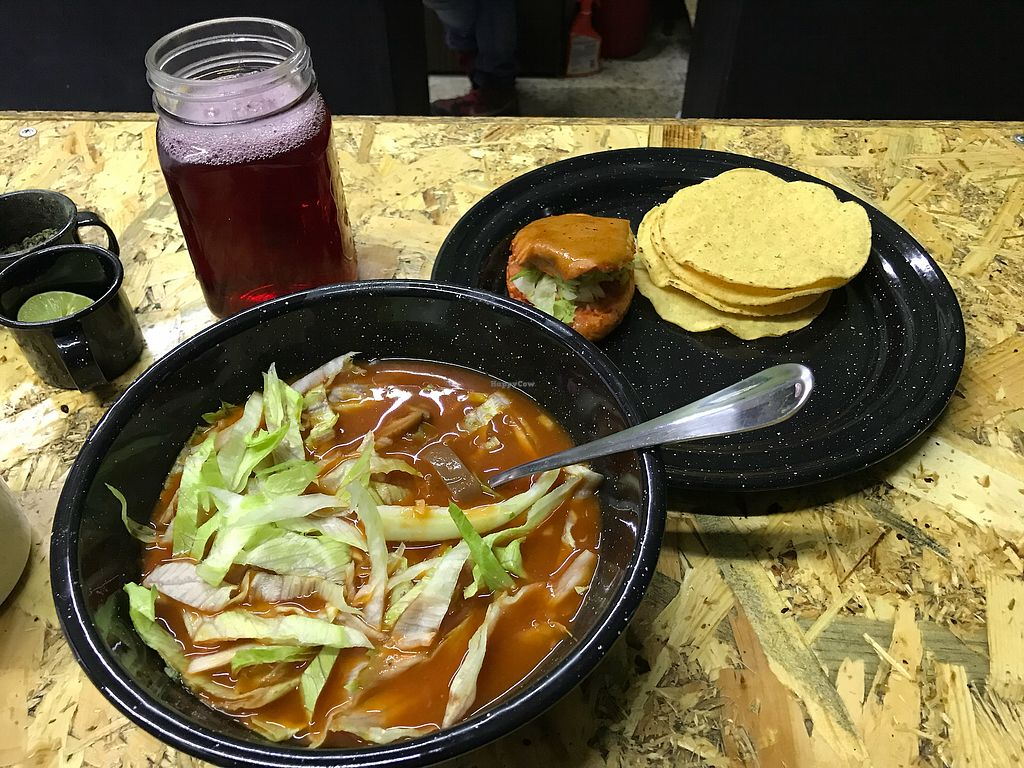 """Photo of Urban Veggie  by <a href=""""/members/profile/rackoo"""">rackoo</a> <br/>Vegan pozole (daily special) <br/> January 19, 2018  - <a href='/contact/abuse/image/104181/348171'>Report</a>"""