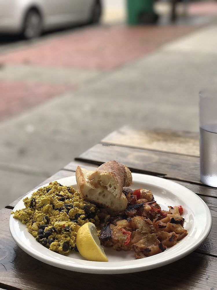 """Photo of Beacon Bread Company  by <a href=""""/members/profile/nlevine94"""">nlevine94</a> <br/>Tofu scramble with potato hash and baguette. Overall, just okay <br/> November 7, 2017  - <a href='/contact/abuse/image/104193/322971'>Report</a>"""