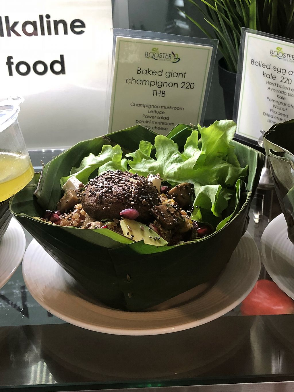 """Photo of Booster Deli & Cafe  by <a href=""""/members/profile/SoniaGivray"""">SoniaGivray</a> <br/>Big mushrooms salad  <br/> April 3, 2018  - <a href='/contact/abuse/image/104202/380055'>Report</a>"""