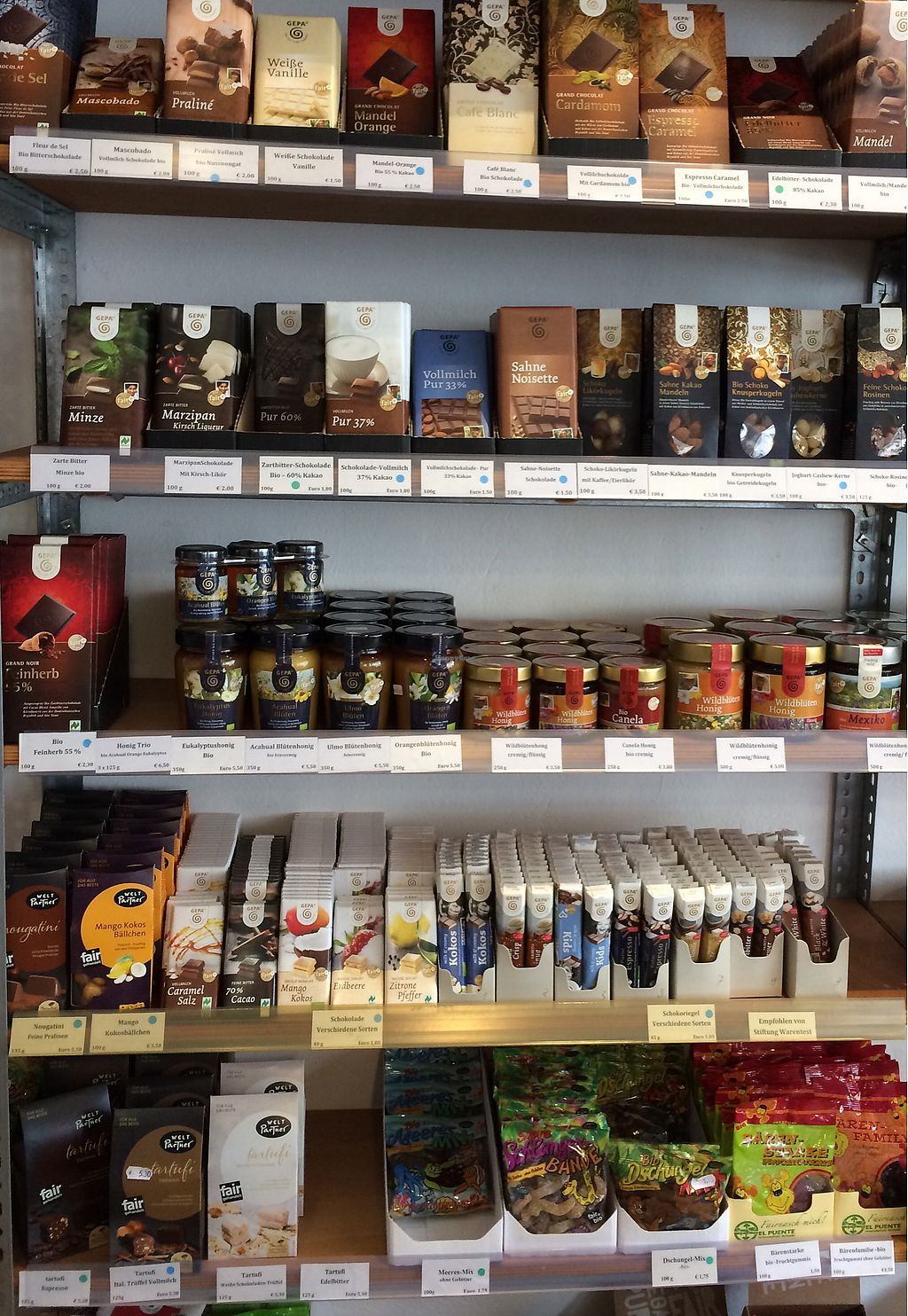 """Photo of Eine Welt Laden  by <a href=""""/members/profile/Carissima"""">Carissima</a> <br/>Fair Trade chocolate and other sweet things <br/> November 3, 2017  - <a href='/contact/abuse/image/104217/321522'>Report</a>"""