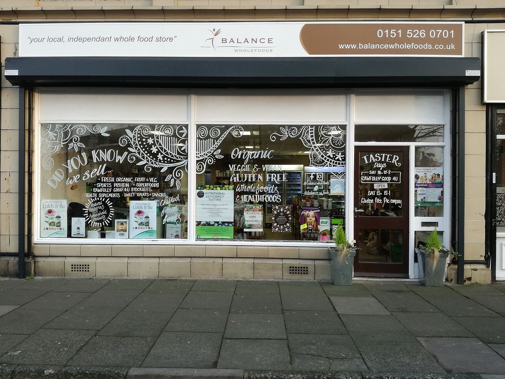 """Photo of Balance Wholefoods  by <a href=""""/members/profile/globetrotterk8"""">globetrotterk8</a> <br/>Balance Wholefoods, 100% vegan shop in Maghull, Merseyside. Wide range of food, large chilled & frozen section, fresh organic fruit & veg, raw foods, snacks & treats, toiletries, household, sports nutrition & superfoods, health supplements as well as dog food/treats and much more!  <br/> April 6, 2018  - <a href='/contact/abuse/image/104235/381715'>Report</a>"""