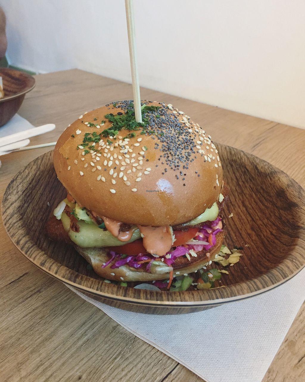 "Photo of Lekker Vegan  by <a href=""/members/profile/paullikespasta"">paullikespasta</a> <br/>Spicy Vegan burger <br/> February 21, 2018  - <a href='/contact/abuse/image/104251/361966'>Report</a>"