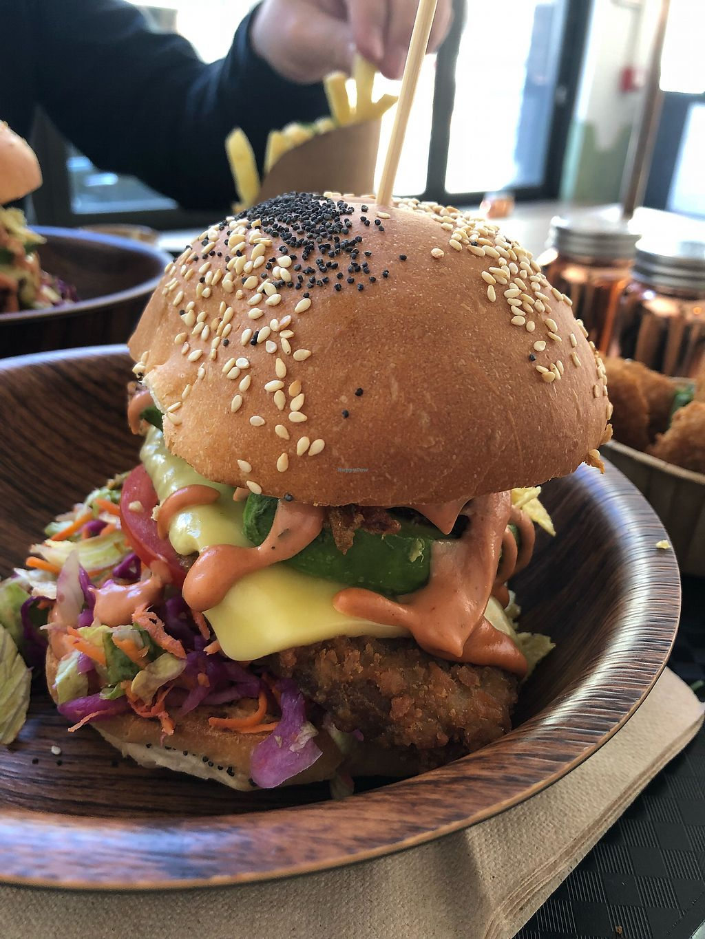 """Photo of Lekker Vegan  by <a href=""""/members/profile/lmd06"""">lmd06</a> <br/>Crispy burger  <br/> March 16, 2018  - <a href='/contact/abuse/image/104251/371391'>Report</a>"""