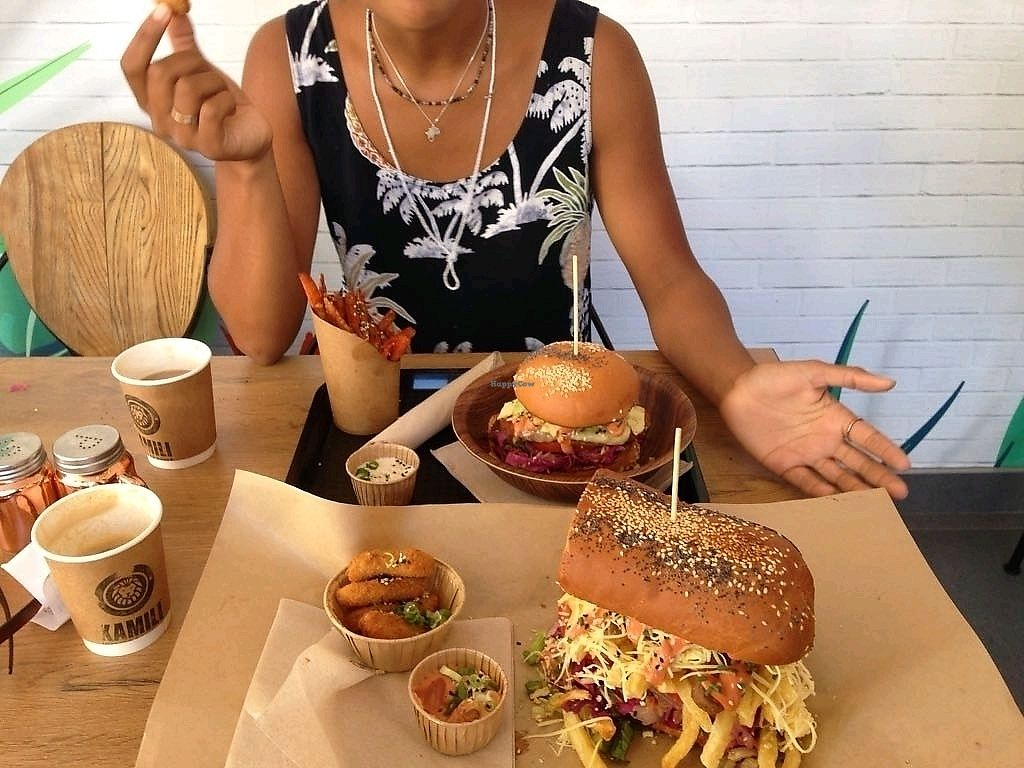 """Photo of Lekker Vegan  by <a href=""""/members/profile/soffel2.0"""">soffel2.0</a> <br/>delivious nuggets, half a sandwich and burger <br/> March 24, 2018  - <a href='/contact/abuse/image/104251/375205'>Report</a>"""