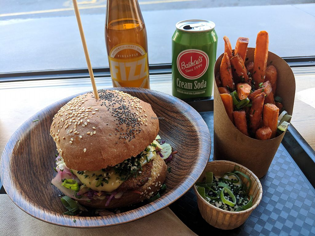 """Photo of Lekker Vegan  by <a href=""""/members/profile/theresabee"""">theresabee</a> <br/>Lekker Crispy with Yam Fries <br/> April 8, 2018  - <a href='/contact/abuse/image/104251/382573'>Report</a>"""