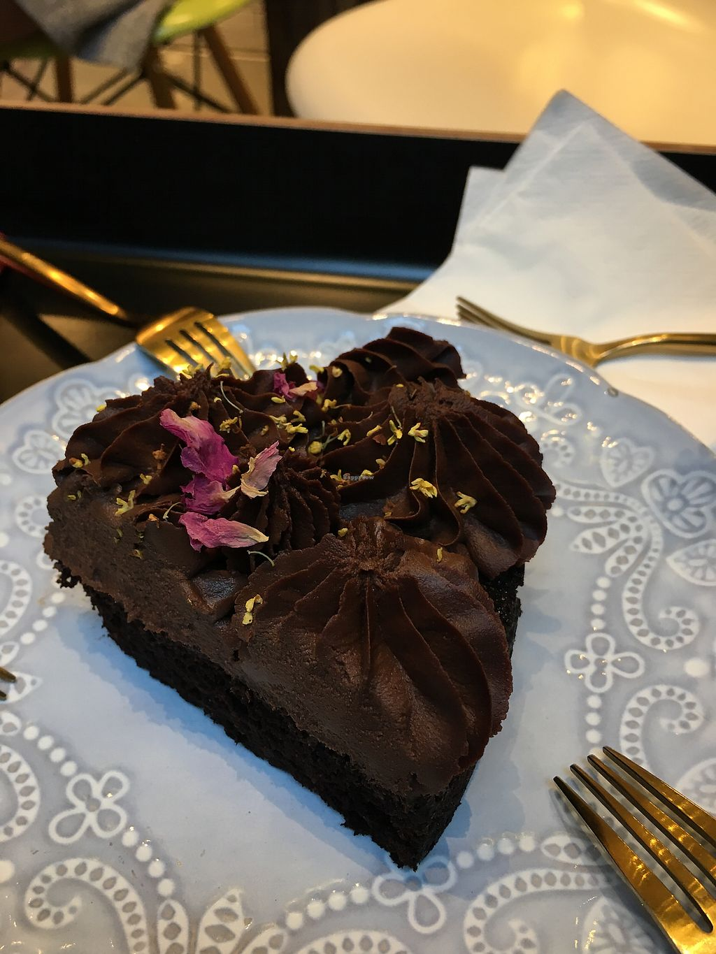 "Photo of Sweetpea Cafe  by <a href=""/members/profile/BaileyGranstrom"">BaileyGranstrom</a> <br/>100% vegan chocolate cake! <br/> November 8, 2017  - <a href='/contact/abuse/image/104253/323278'>Report</a>"