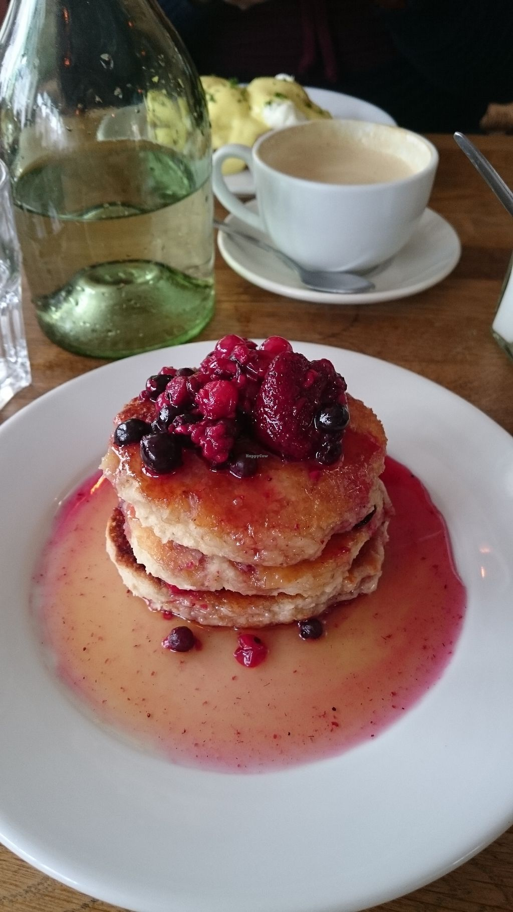"""Photo of The Handle Bar  by <a href=""""/members/profile/Layra"""">Layra</a> <br/>Vegan coconut pancakes with berries <br/> March 27, 2018  - <a href='/contact/abuse/image/104266/376912'>Report</a>"""