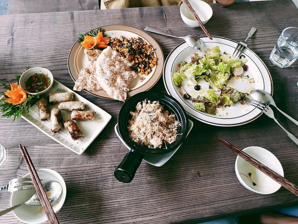 "Photo of Minh Chay - Xuan Dieu  by <a href=""/members/profile/TrangThuy"">TrangThuy</a> <br/>MinhChay vegan restaurant - No45 - Xuân Diêu street - Tay Ho - Ha Noi <br/> November 18, 2017  - <a href='/contact/abuse/image/104268/326707'>Report</a>"