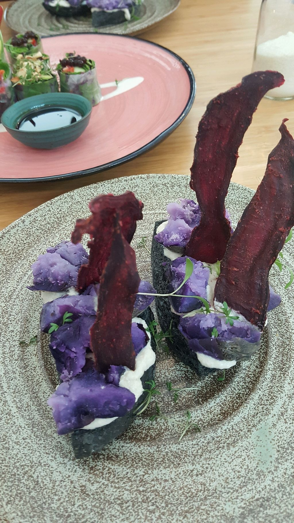 "Photo of Plant Power Food  by <a href=""/members/profile/BryonyTpot"">BryonyTpot</a> <br/>purple potatoes with cream ""cheese""  <br/> February 25, 2018  - <a href='/contact/abuse/image/104270/363636'>Report</a>"