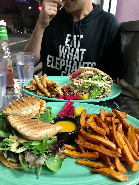 "Photo of Viva Falafel  by <a href=""/members/profile/Megandewar15"">Megandewar15</a> <br/>Turkey burger & falafel sandwich  <br/> January 18, 2018  - <a href='/contact/abuse/image/104296/348059'>Report</a>"
