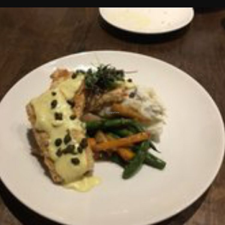 """Photo of Seasons Plant Based Bistro  by <a href=""""/members/profile/Birdwin"""">Birdwin</a> <br/>Tofu Piccata  <br/> November 6, 2017  - <a href='/contact/abuse/image/104318/322571'>Report</a>"""