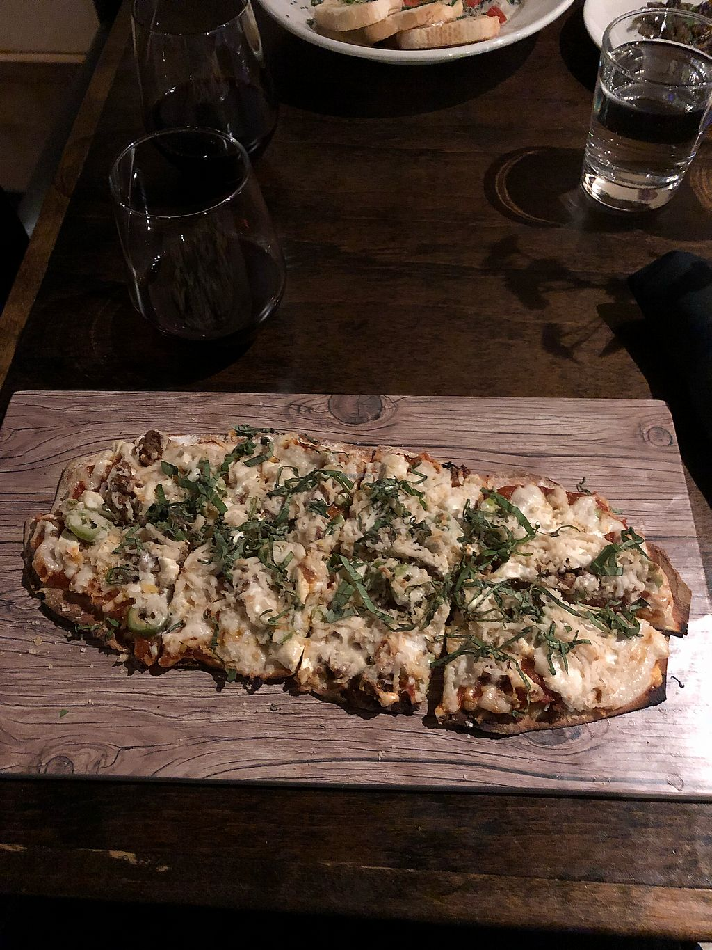 """Photo of Seasons Plant Based Bistro  by <a href=""""/members/profile/Levi"""">Levi</a> <br/>Flatbread <br/> January 7, 2018  - <a href='/contact/abuse/image/104318/344013'>Report</a>"""