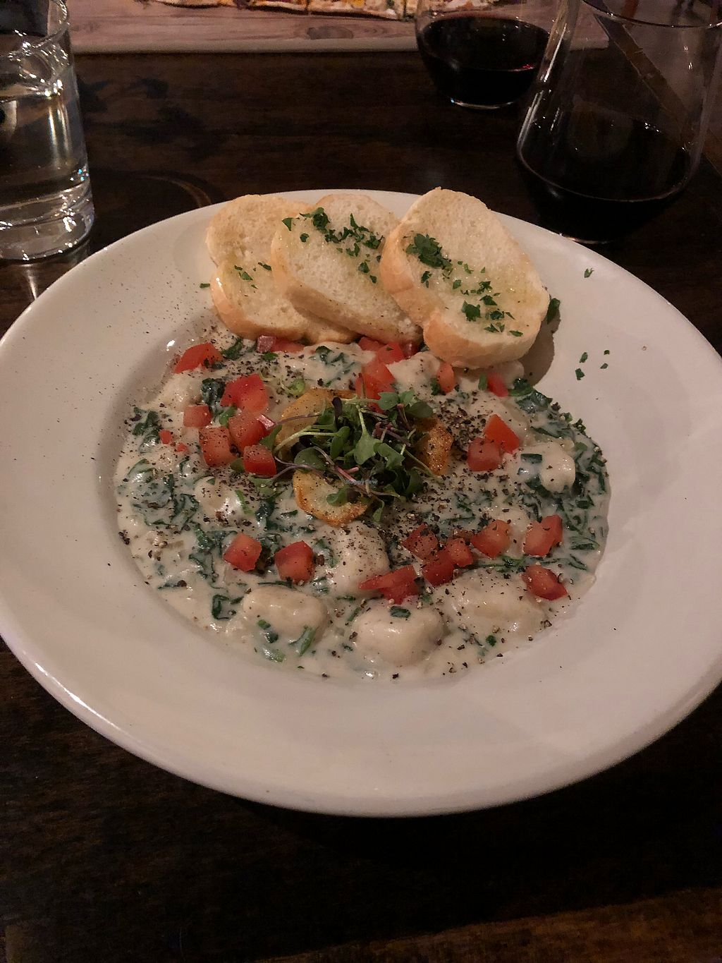 """Photo of Seasons Plant Based Bistro  by <a href=""""/members/profile/Levi"""">Levi</a> <br/>Gnocchi  <br/> January 7, 2018  - <a href='/contact/abuse/image/104318/344014'>Report</a>"""