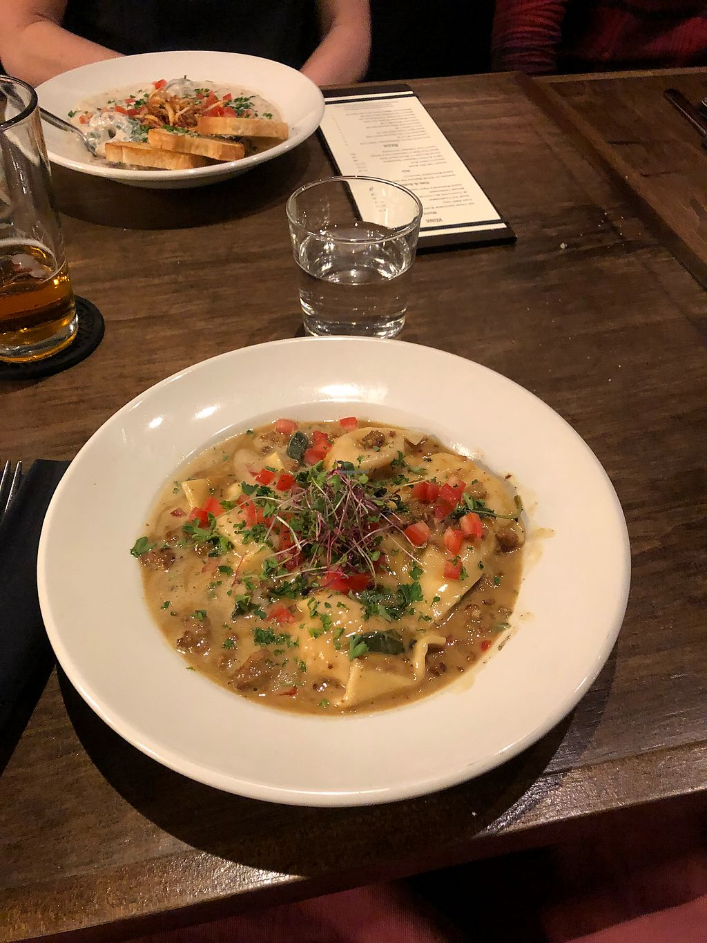 """Photo of Seasons Plant Based Bistro  by <a href=""""/members/profile/Levi"""">Levi</a> <br/>Ravioli <br/> January 26, 2018  - <a href='/contact/abuse/image/104318/351166'>Report</a>"""