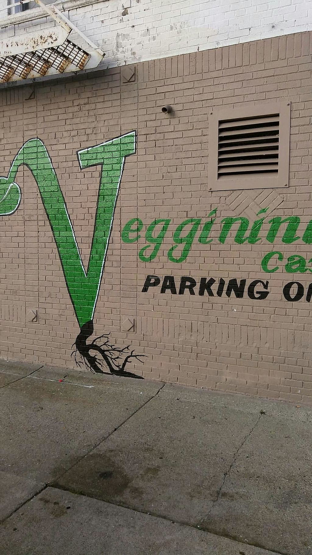 """Photo of Veggininis Paradise Cafe  by <a href=""""/members/profile/VeggininisCafe"""">VeggininisCafe</a> <br/>Side parking on Nottingham <br/> November 5, 2017  - <a href='/contact/abuse/image/104320/322281'>Report</a>"""