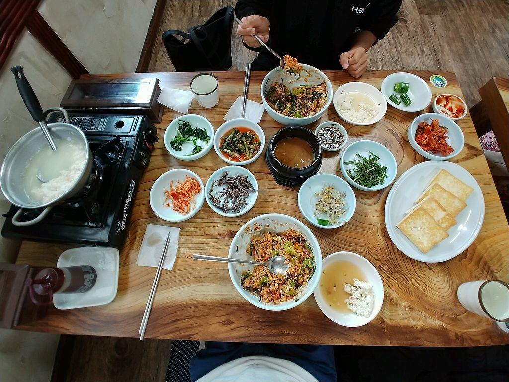 "Photo of Gapyeong Suntofu Barley Rice  by <a href=""/members/profile/vinz33"">vinz33</a> <br/>bibimbap and friedtofu <br/> November 6, 2017  - <a href='/contact/abuse/image/104335/322358'>Report</a>"