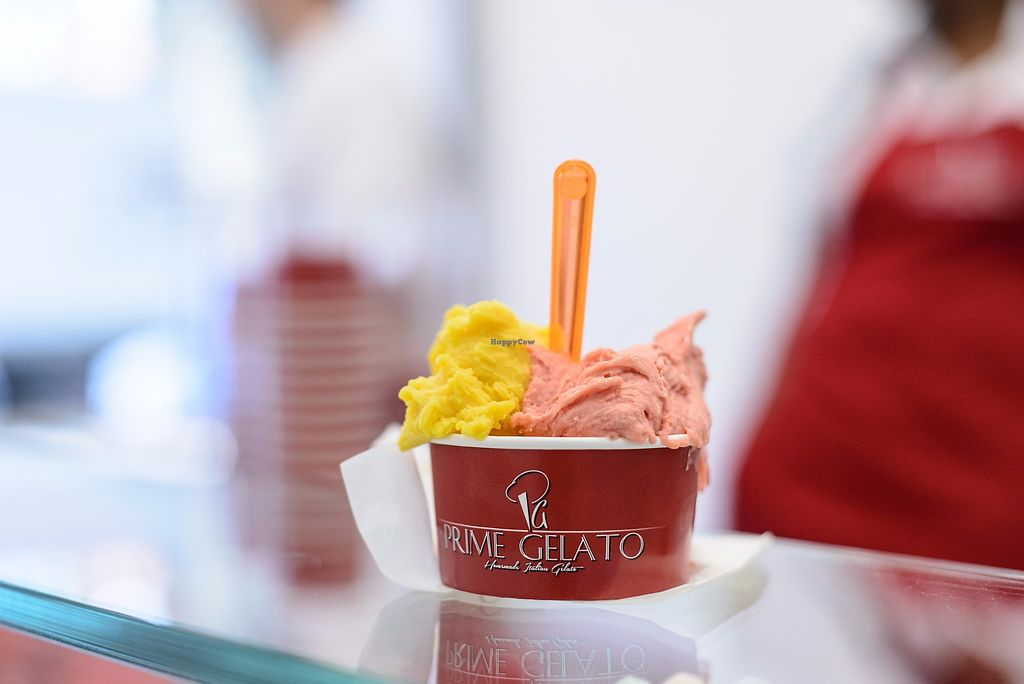"""Photo of Prime Gelato  by <a href=""""/members/profile/Prime_Gelato_London"""">Prime_Gelato_London</a> <br/>Mango and Strawberry Ice Cream <br/> November 20, 2017  - <a href='/contact/abuse/image/104351/327654'>Report</a>"""