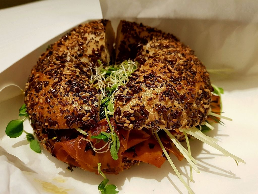 "Photo of Joe's Sandwich Bar  by <a href=""/members/profile/hatszepsut"">hatszepsut</a> <br/>Bagel with ""salmon"" <br/> January 30, 2018  - <a href='/contact/abuse/image/104399/352587'>Report</a>"