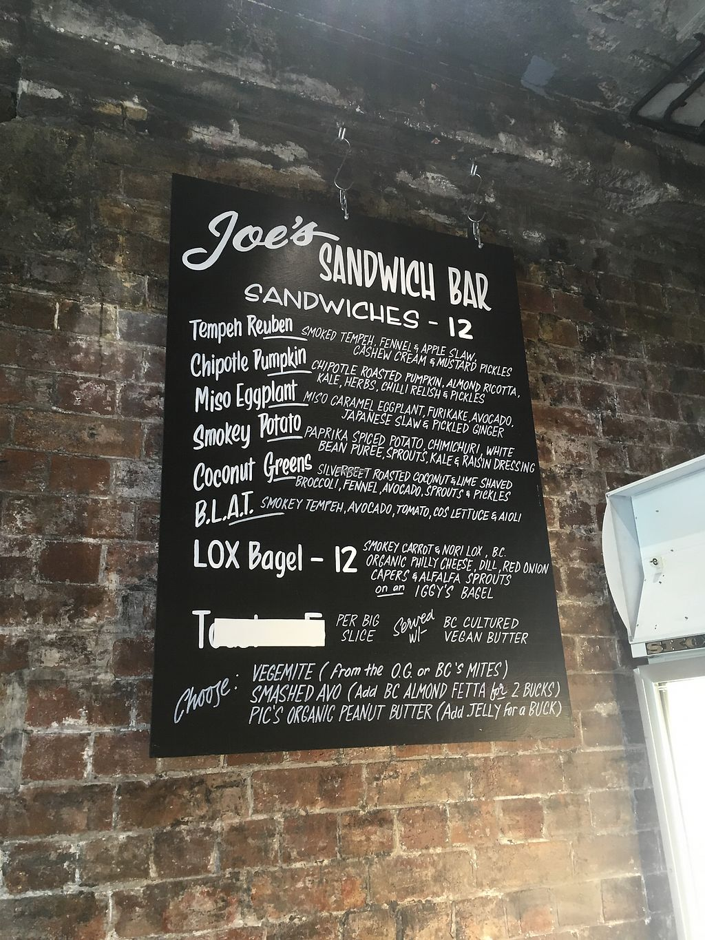 "Photo of Joe's Sandwich Bar  by <a href=""/members/profile/RaineJackson"">RaineJackson</a> <br/>Amazing menu <br/> March 4, 2018  - <a href='/contact/abuse/image/104399/366549'>Report</a>"