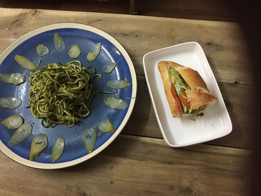 "Photo of Lovegan  by <a href=""/members/profile/VanVeganHanoi"">VanVeganHanoi</a> <br/>Pesto zucchini spaghetti  <br/> December 25, 2017  - <a href='/contact/abuse/image/104415/339019'>Report</a>"