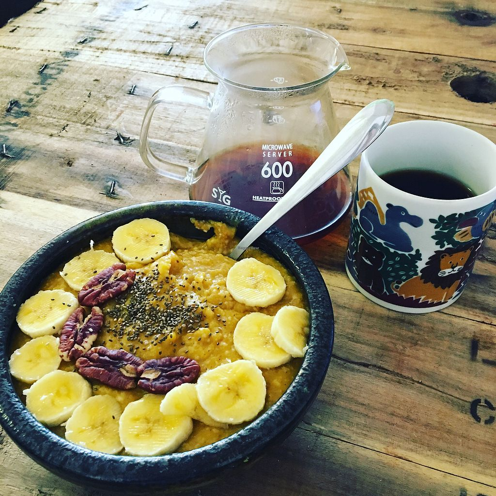 """Photo of Brew and Breakfast  by <a href=""""/members/profile/NickMelhuish"""">NickMelhuish</a> <br/>Coffee and pumpkin spice oats! <br/> November 20, 2017  - <a href='/contact/abuse/image/104422/327379'>Report</a>"""