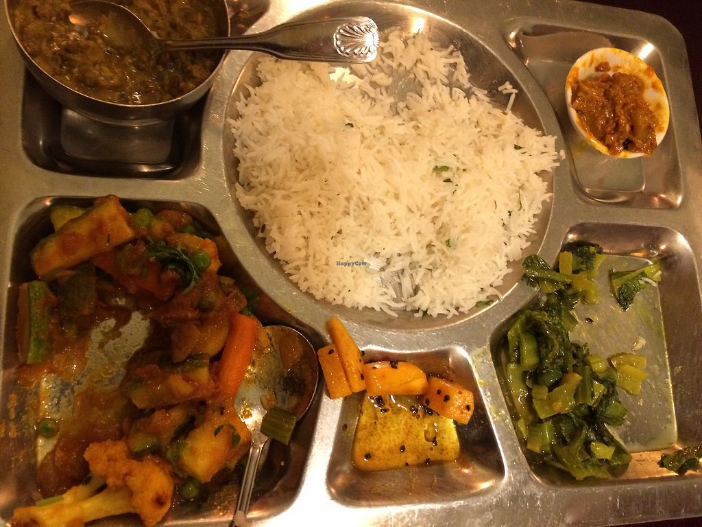 """Photo of The Everest Kitchen  by <a href=""""/members/profile/Arti"""">Arti</a> <br/>daal bhaat plate - half eaten before I could take a picture :) <br/> February 3, 2018  - <a href='/contact/abuse/image/104447/354420'>Report</a>"""