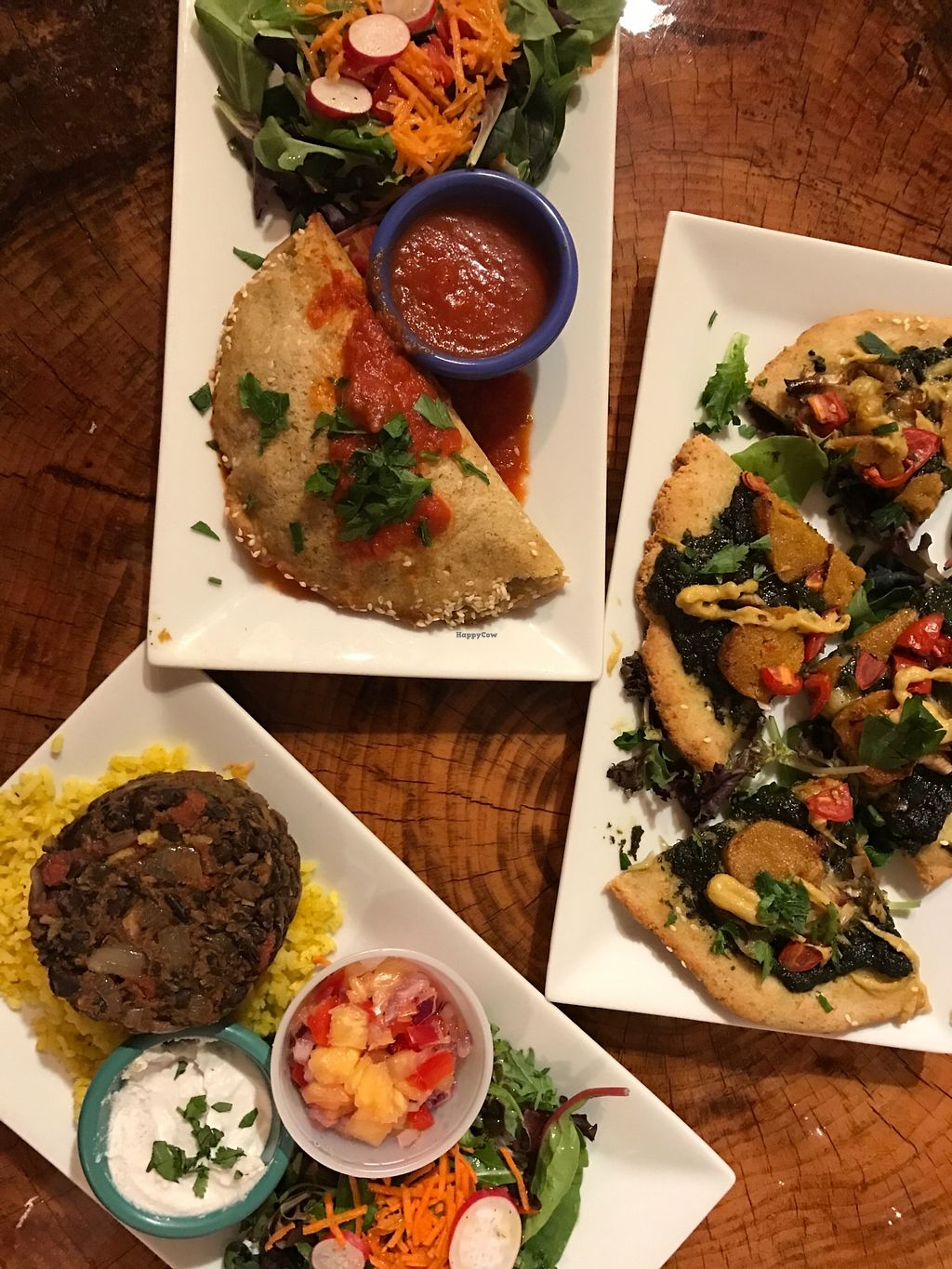 """Photo of Shayna B's By The Sea  by <a href=""""/members/profile/Juliettevf"""">Juliettevf</a> <br/>Calzone, Spinach Pesto Pizza, Black Bean Borrito Bowl (special) <br/> November 10, 2017  - <a href='/contact/abuse/image/104454/323730'>Report</a>"""