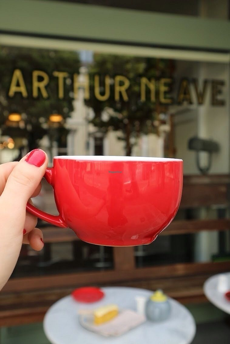 """Photo of Arthur Neave  by <a href=""""/members/profile/charclothier"""">charclothier</a> <br/>tea with soya milk!  <br/> November 7, 2017  - <a href='/contact/abuse/image/104512/323081'>Report</a>"""