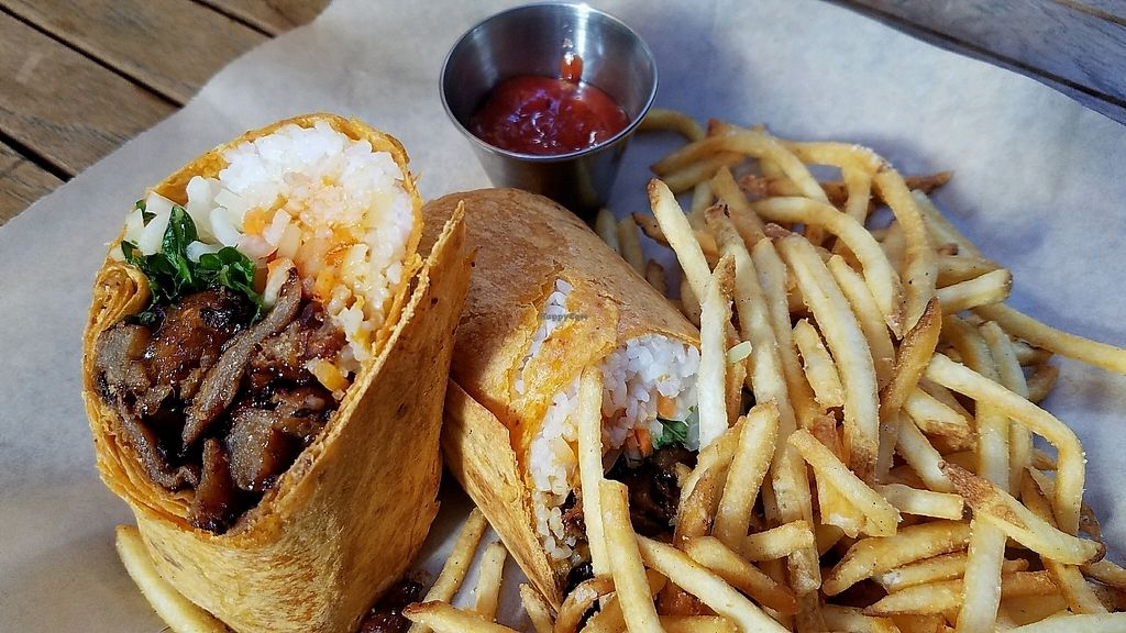 """Photo of Beelman's  by <a href=""""/members/profile/eric"""">eric</a> <br/>Viet nom nom wrap Korean ribs <br/> November 18, 2017  - <a href='/contact/abuse/image/104517/326822'>Report</a>"""