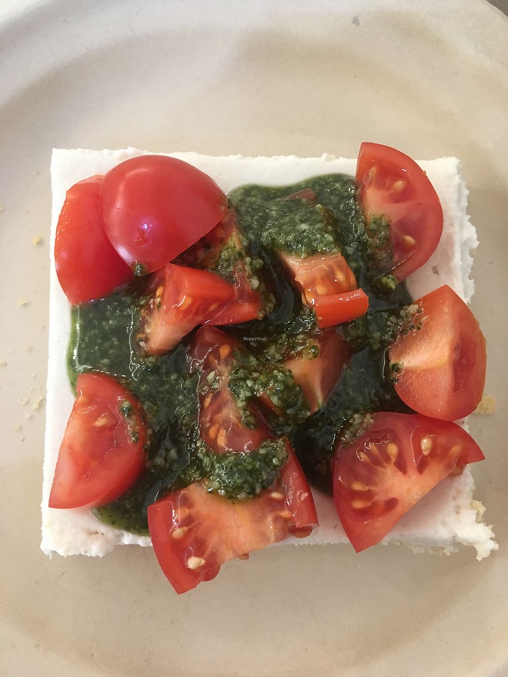 """Photo of Missfagiola  by <a href=""""/members/profile/hokusai77"""">hokusai77</a> <br/>Savoury cheesecake with taralli crust, almond and cashew cream, topped with cherry tomatoes and basil <br/> January 18, 2018  - <a href='/contact/abuse/image/104526/347968'>Report</a>"""
