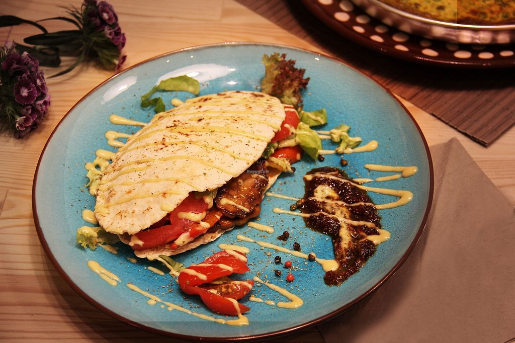 """Photo of Peas  by <a href=""""/members/profile/Eirini"""">Eirini</a> <br/>Homemade chickpeas tempeh on a pitta ! <br/> November 21, 2017  - <a href='/contact/abuse/image/104532/327962'>Report</a>"""