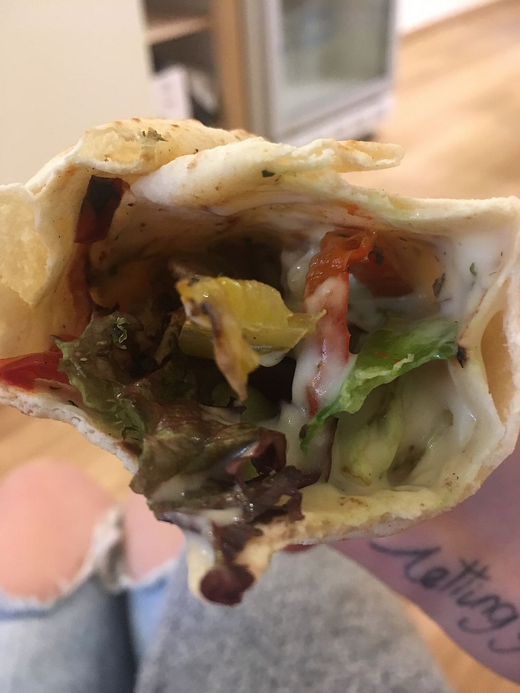 """Photo of Peas  by <a href=""""/members/profile/Marieanne"""">Marieanne</a> <br/>Seitan wrap <br/> March 24, 2018  - <a href='/contact/abuse/image/104532/375149'>Report</a>"""
