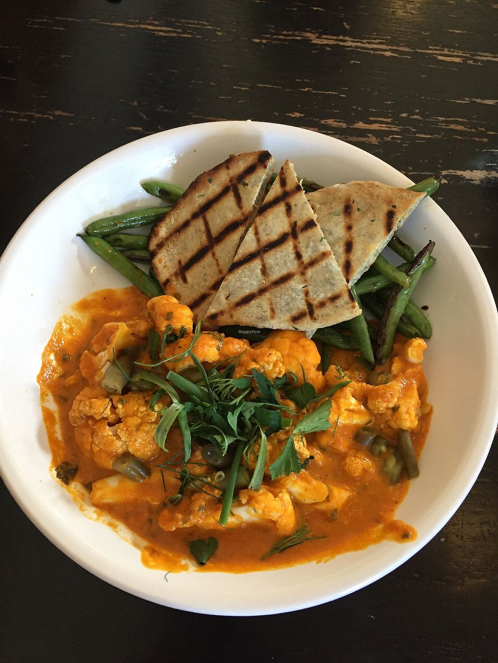 "Photo of Merchants Pub and Plate  by <a href=""/members/profile/alexis17"">alexis17</a> <br/>Cauliflower tika masala modified to be vegan (with green beans substituted out for rice) <br/> February 27, 2018  - <a href='/contact/abuse/image/104555/364301'>Report</a>"