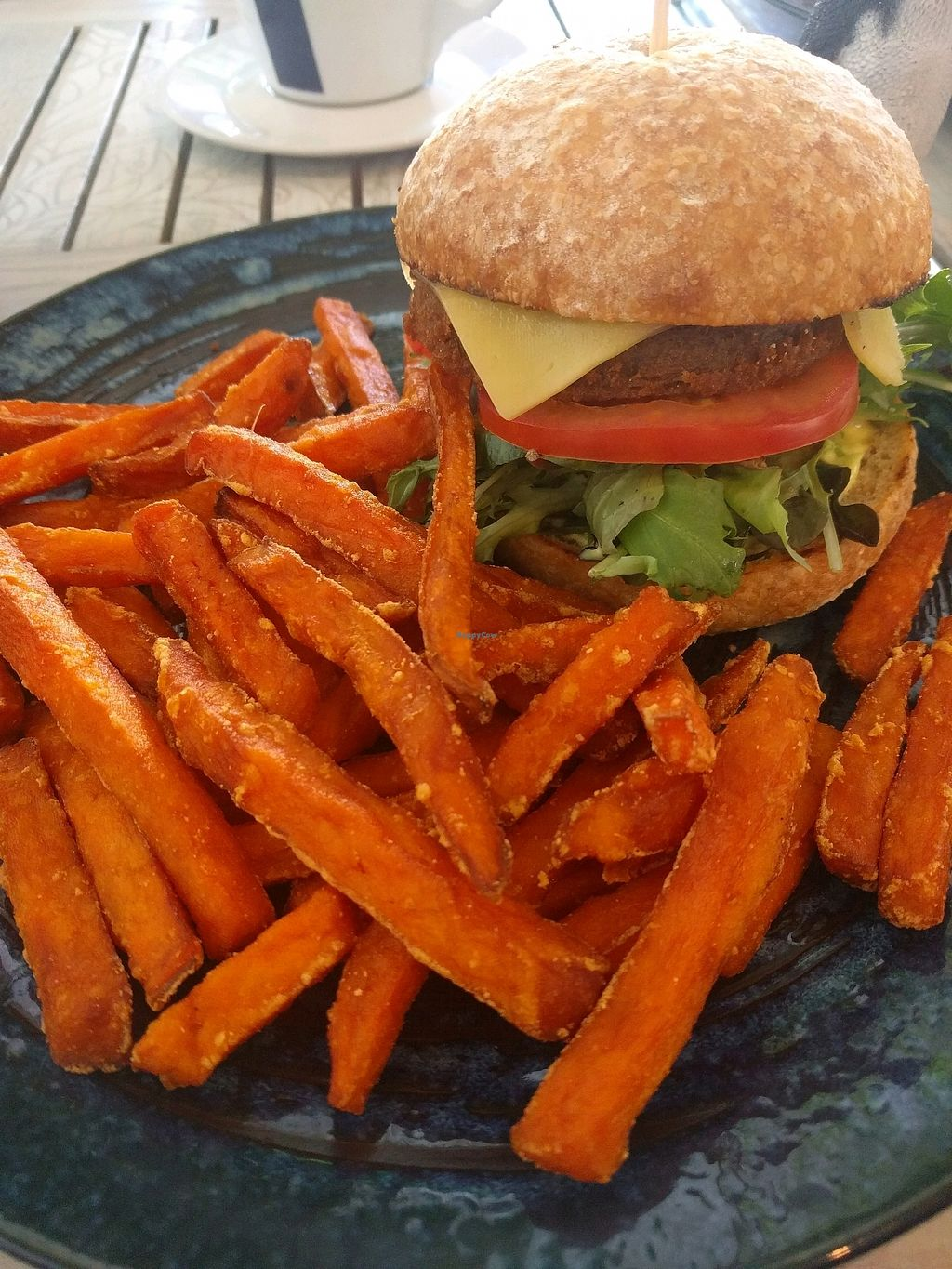 "Photo of Nature Cafe/Bar  by <a href=""/members/profile/LeeZomBee"">LeeZomBee</a> <br/>Southern style 'chicken' burger with sweet potato fries... amazing ? <br/> March 31, 2018  - <a href='/contact/abuse/image/104563/378633'>Report</a>"