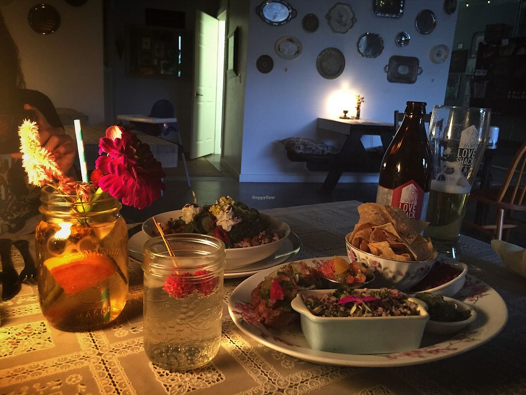 """Photo of Island SodaWorks Bistro   by <a href=""""/members/profile/metta45"""">metta45</a> <br/>Mirror mirror , vegan dinner  <br/> November 9, 2017  - <a href='/contact/abuse/image/104628/323470'>Report</a>"""